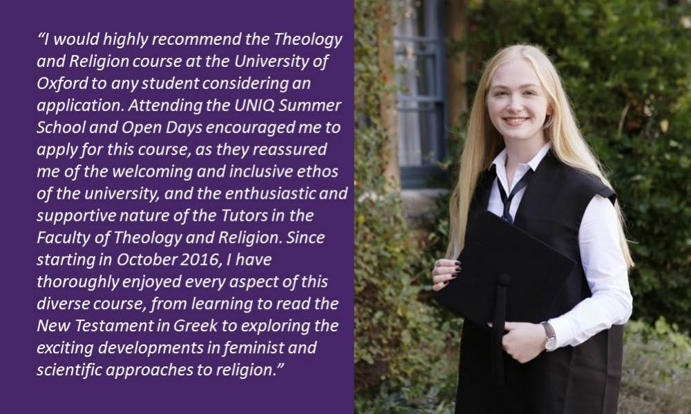 Study of theology at oxford